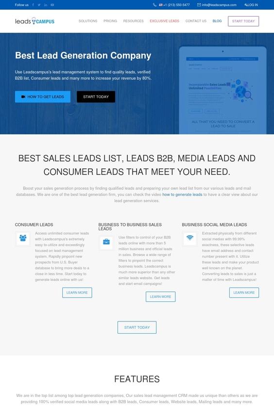 Unlimited Consumer and Business Leads